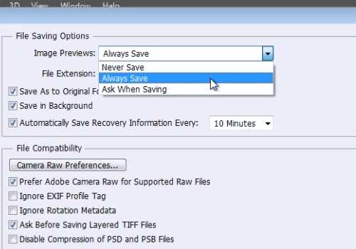 "select ""Always Save"