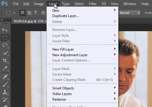 "click ""Layer"""