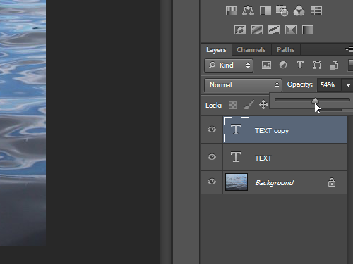 Change the layer opacity