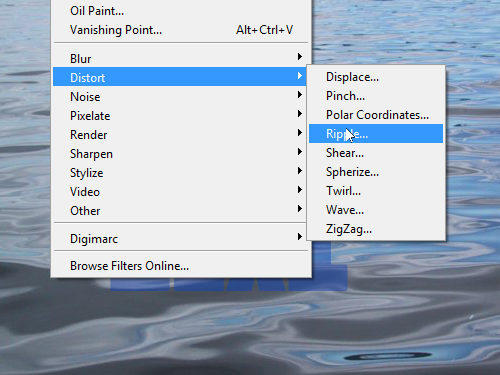 Open the Ripple effect dialog box
