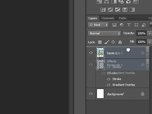 Move the foregraund layer to the top in the layers list