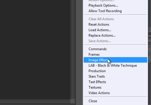 """choose """"Image Effects"""""""