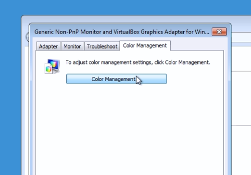 "press ""Color Management"""