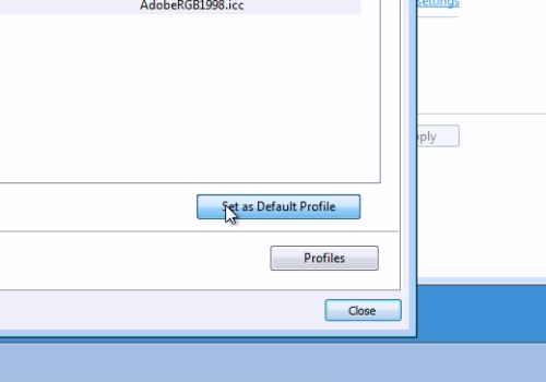 "press ""Set as Default Profile"""