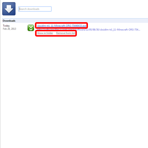 View the downloading page