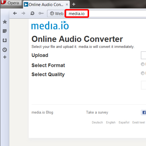 Go to online video to mp3 converter