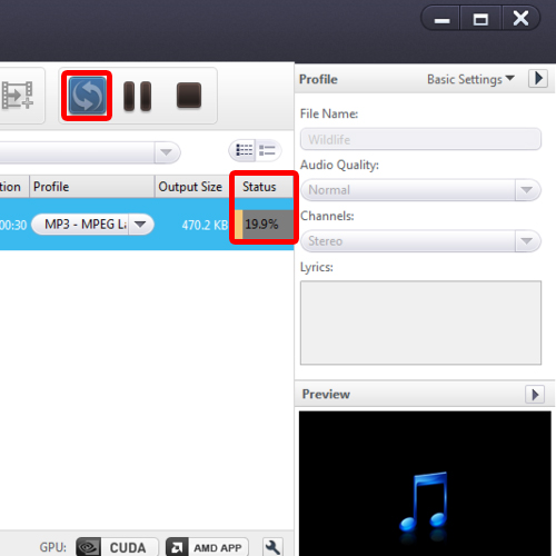 Convert the video into mp3