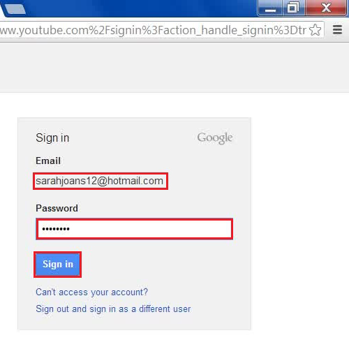 Sign in to YouTube using your same ID