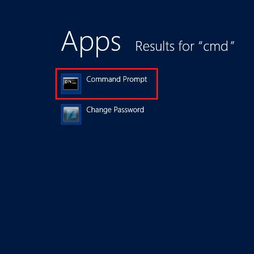 Find and open the command prompt