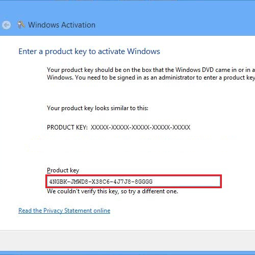 register windows 8 product key