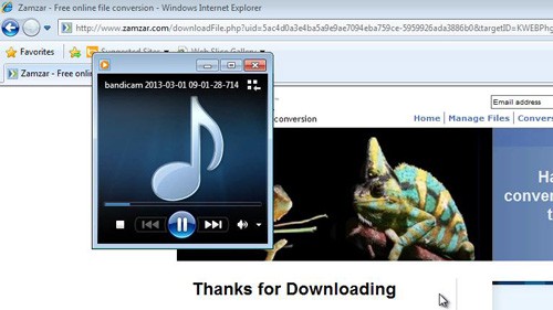 Listening to the extracted MP3 file