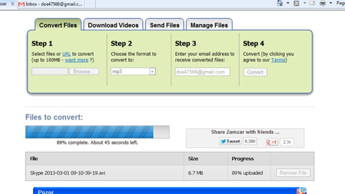 File being converted at ZamZar.com