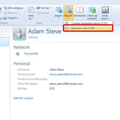 How to Export Windows Live Mail Contacts in Windows 7 | HowTech