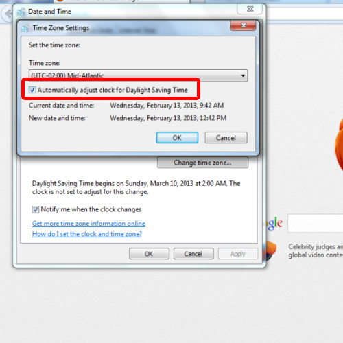 Enable Daylight saving time feature