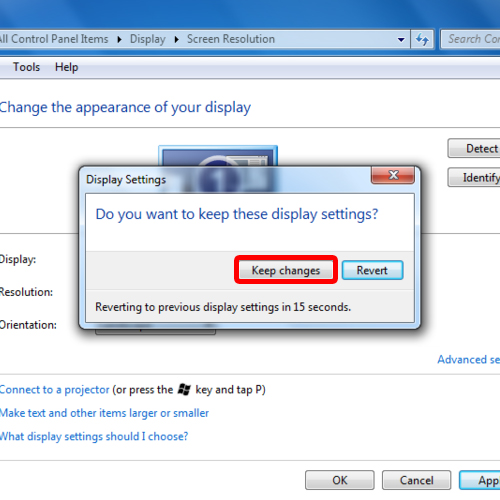 Make new display settings permenant