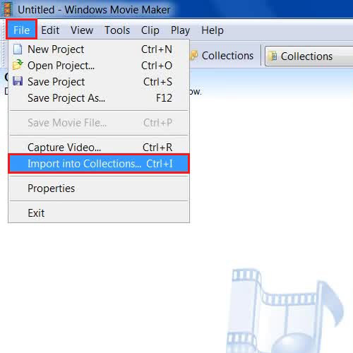 Open a video by importing it