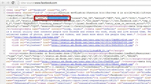Finding your Facebook user ID