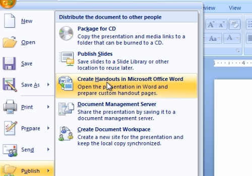Create Handouts in Microsoft Office Word