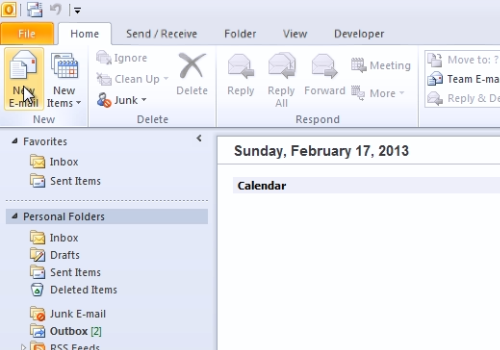 how to create a note in outlook 2010