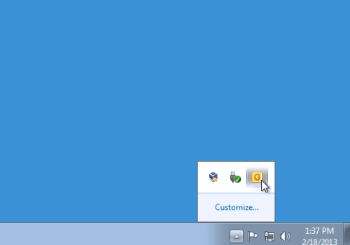 Double-click on the Outlook icon