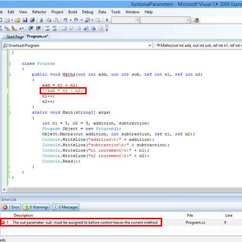 How to Use Function Parameters in C#
