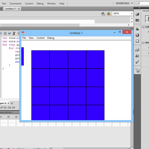 Output – complete grid