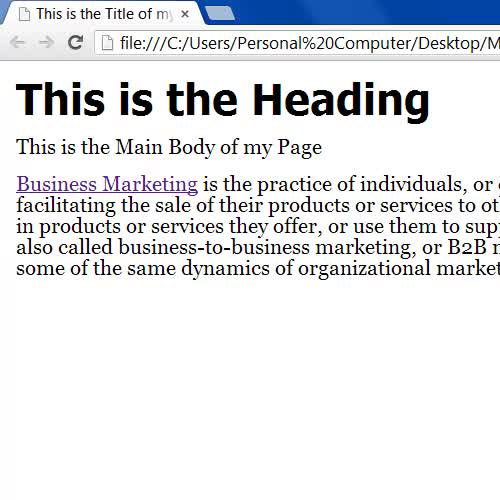 Display the html page with changes