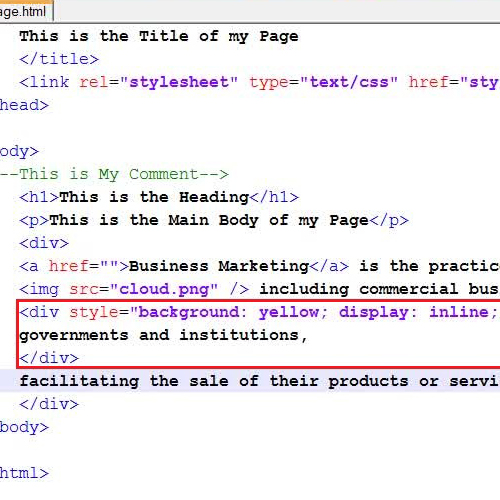 Insert the div tag by replacing the paragraph tag