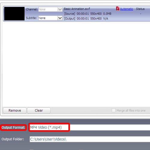 Change output format to mp4