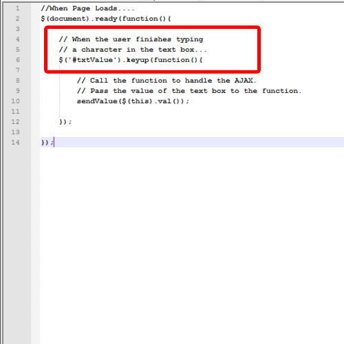 The jQuery Code