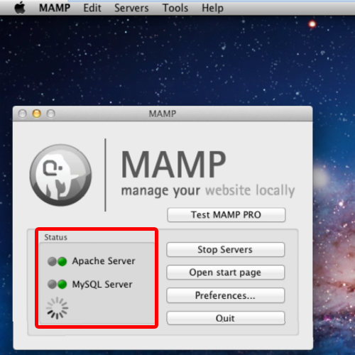 Successful mamp installaion