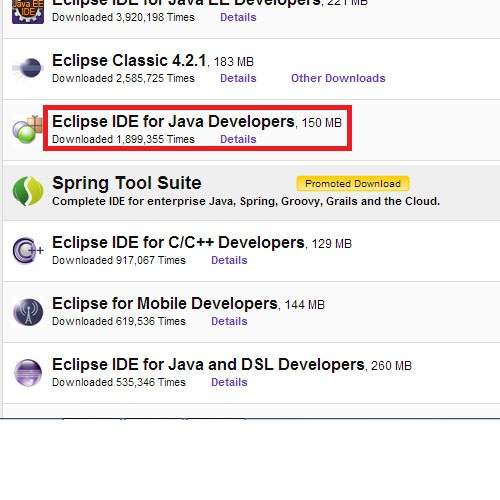 Download Eclipse IDE