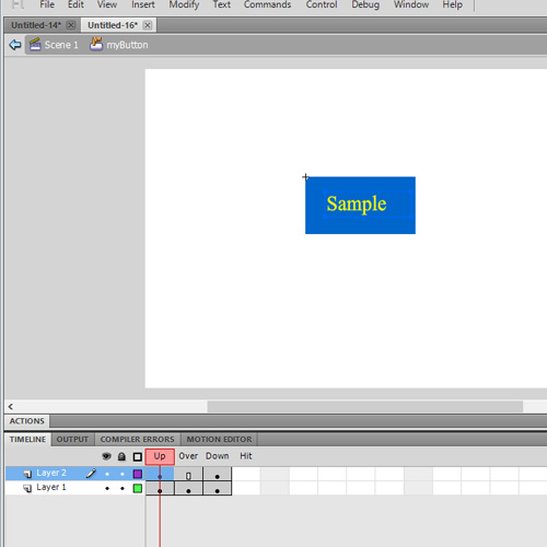 adding text layer to the buttons