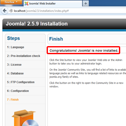 Successful Joomla Installation