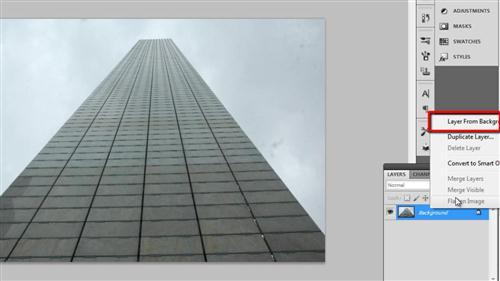 Creating a layer from the background image