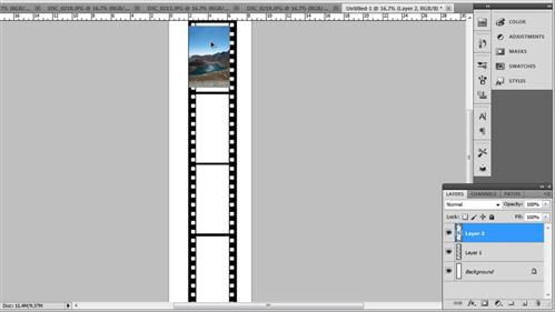 Placing the images into the film strip