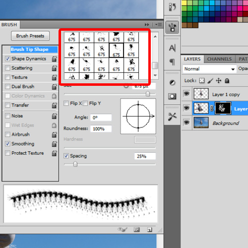 Use eraser tool to add effects