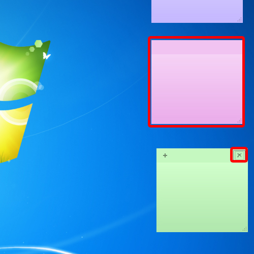 Re arrange sticky notes