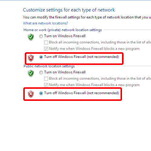 Customize firewall settings