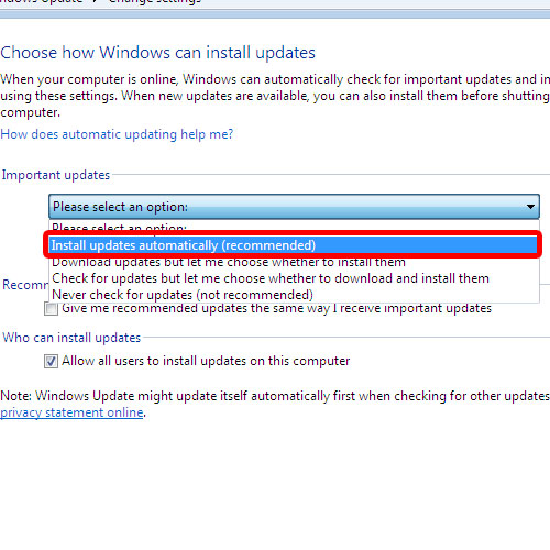 Choose how Windows installs updates