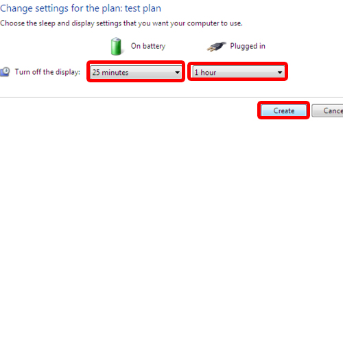 Adjust settings for the power plan
