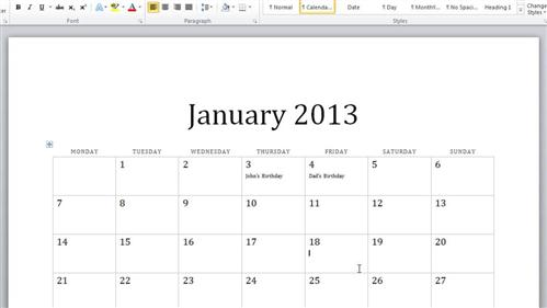 Make A Calendar In Word - Academic Calendar