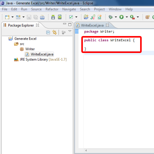 Java project and class