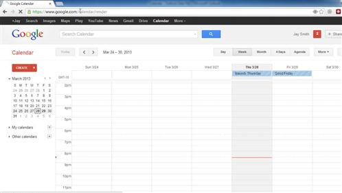 The Google Calendar where you will import the calendar