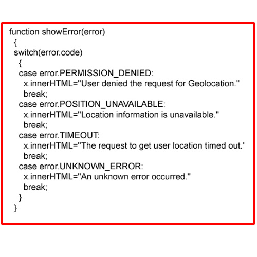 Geolocation with Error Handling (Errors)