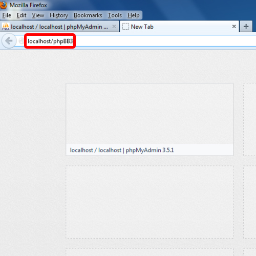 Opening local host phpBB3