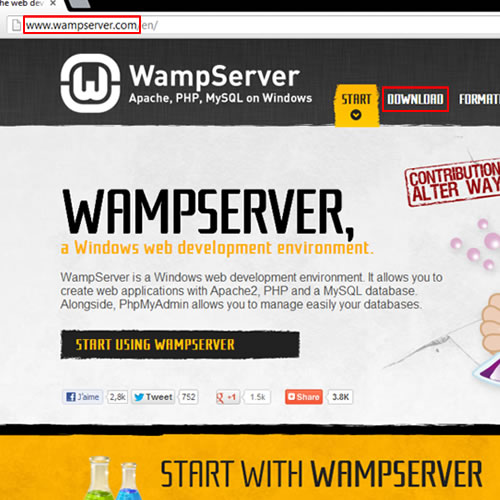 Download WAMP server
