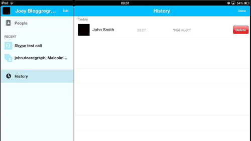 Deleting the Skype chat history for a specific contact