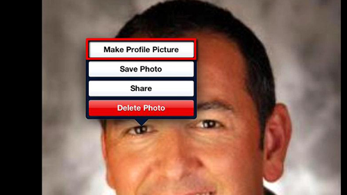 Setting a photo as your new profile picture