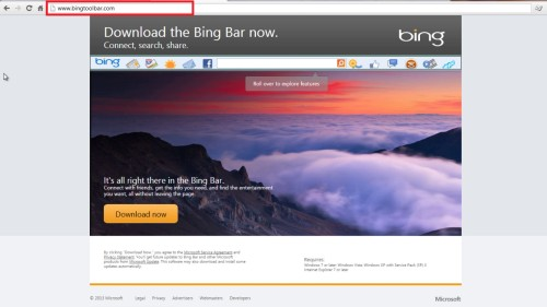 go to bingtoolbar.com on your browser